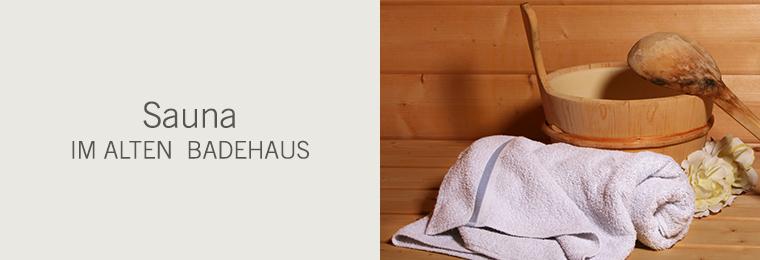 Sauna im alten Badehaus