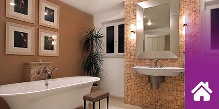 Modernes Badezimmer mit Mosaikfliesen