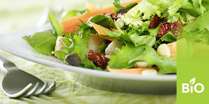 Salatteller mit Gabel