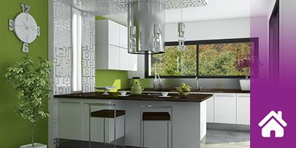 Blick in moderne Küche